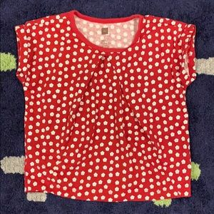 Tea Collection red floral top for girls